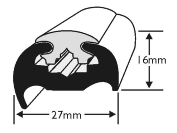 Acrü Scheuerleiste PVC 27x16mm