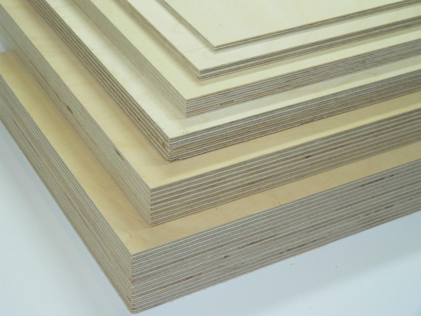 8,9€//m² 6 Platten Sperrholz Multiplex Birke 3 mm 50 x 50 cm Holzplatte