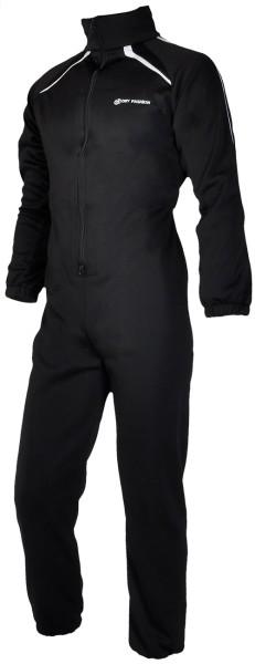 Dry Fashion Underall 260 g Antipilling Fleece, schwarz