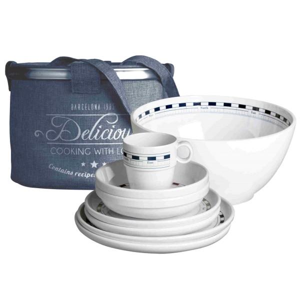 Mistral Geschirr-Set aus Melamin für 4 Personen