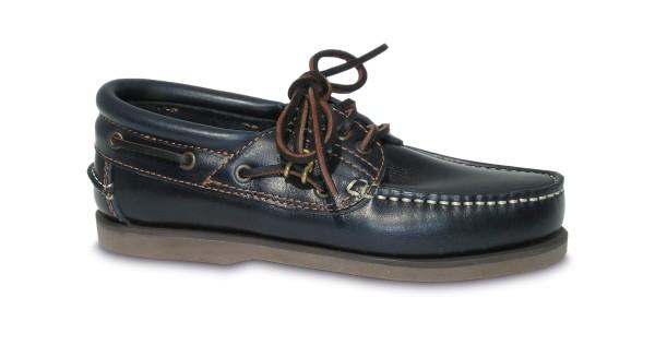 Schuh Comfort navyblau / br. Sohle