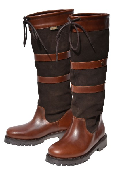 QUAYSIDE Banbury Boots - oak/chocolate