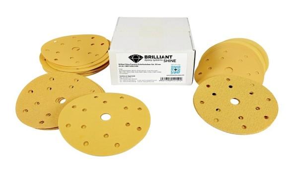 BrilliantShine Premium Schleifscheiben-Set Klett, 150 mm