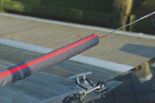 Relingspolster rot/schwarz