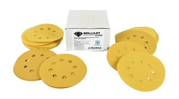 BrilliantShine Premium Schleifscheiben-Set Klett, 125 mm