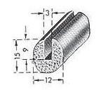 Moosgummi-Profil 12 x 15mm