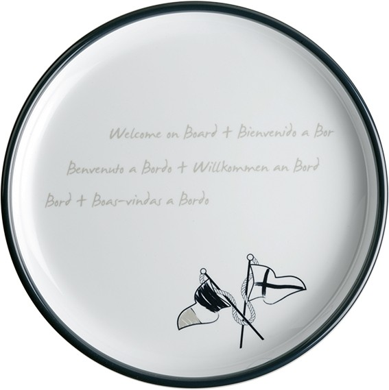 Welcome on Board Kuchenteller aus Melamin