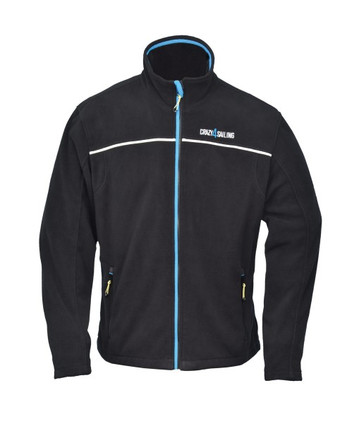 Windbreaker Fleece Jacke, schwarz