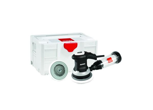 Einhand-Exzenterschleifer, 3mm Hub,125/150mm Klett-Teller + Filtereinheit